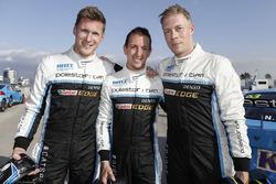 Nicky Catsburg, Thed Björk, Nestor Girolami, Polestar Cyan Racing, Volvo S60 Polestar after MAC3 qualifying