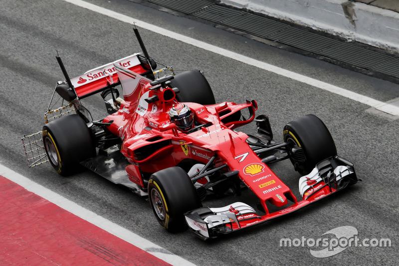 Kimi Raikkonen, Ferrari SF70H, con sensores