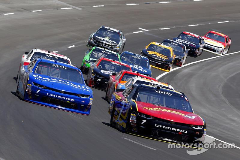 Justin Allgaier, JR Motorsports, Chevrolet; Elliott Sadler, JR Motorsports, Chevrolet
