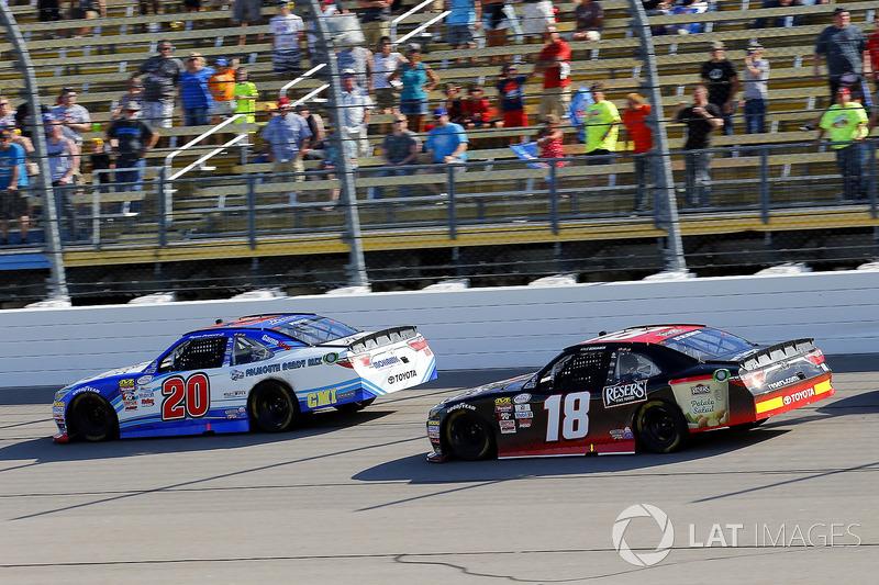 Ryan Preece, Joe Gibbs Racing Toyota and Kyle Benjamin, Joe Gibbs Racing Toyota