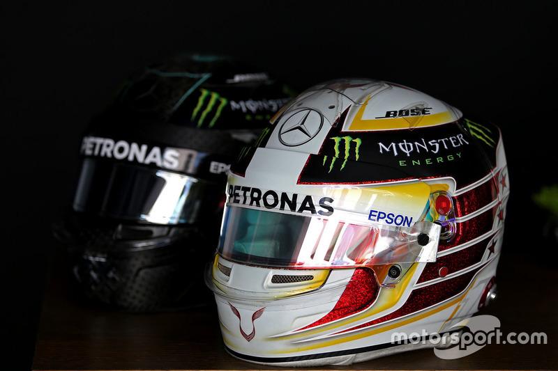 Helmet of Lewis Hamilton, Mercedes AMG F1