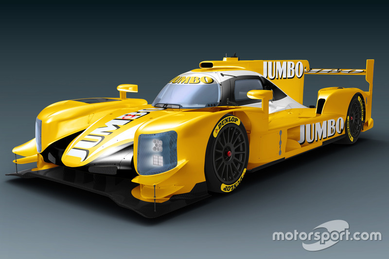 Dallara LMP2 van Racing Team Nederland ien los colores de Jumbo