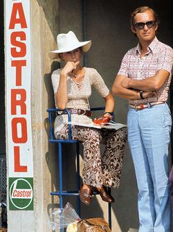 Nina Rindt watches her husband, Jochen Rindt