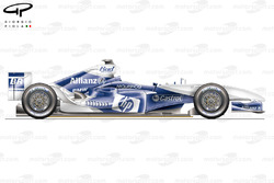 DUPLICATE: Williams FW26 side view