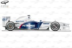 Sauber F1.09 side view