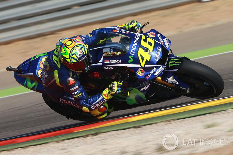 Valentino Rossi mais uma vez foi herói. O italiano da Yamaha largou bem e ocupou o segundo lugar durante a maior parte da corrida. No fim, ele não resistiu às pressões, mas ainda assim terminou em um honroso quinto.