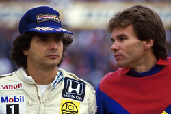 Nelson Piquet, Williams, mit Peter Windsor, Williams
