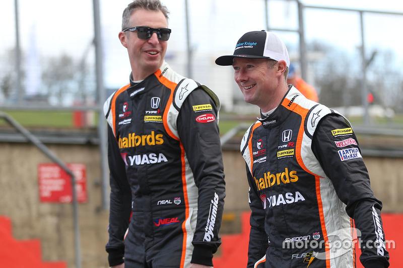 Gordon Shedden, Matt Neal, Halfords Yuasa Racing, Honda Civic Type R