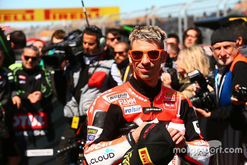 Third place Marco Melandri, Ducati Team