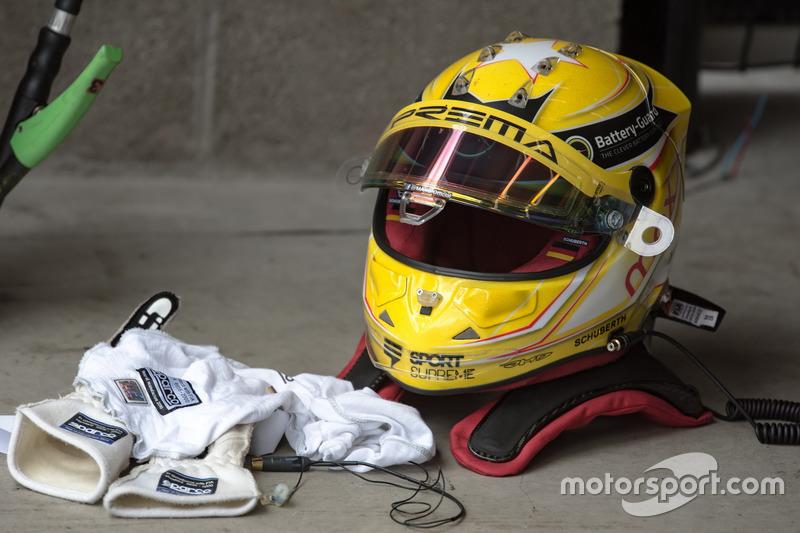 Casco de Maximilian Günther, Prema Powerteam Dallara F317 - Mercedes-Benz
