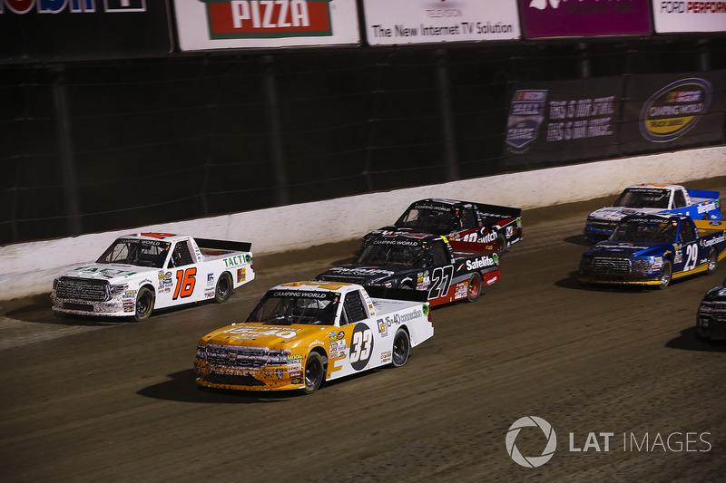 Kaz Grala, GMS Racing Chevrolet, Ryan Truex, Hattori Racing Enterprises Toyota, Ben Rhodes, ThorSpor
