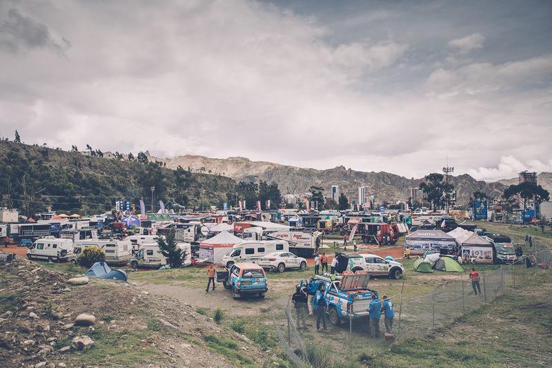 El vivac en La Paz