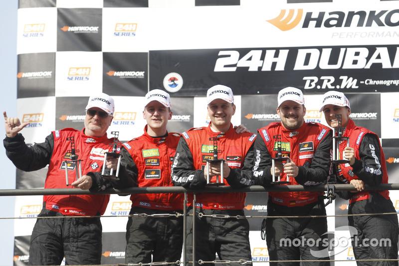 Podium: Winner AM #1 Hofor-Racing Mercedes AMG GT3: Michael Kroll, Chantal Kroll, Roland Eggimann, K