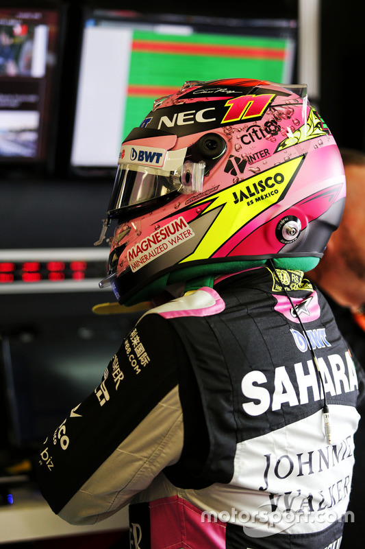Casco de Sergio Perez, Sahara Force India F1