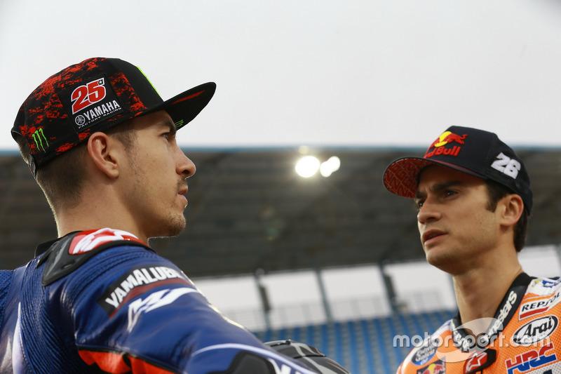 Маверік Віньялес, Yamaha Factory Racing; Дані Педроса, Repsol Honda Team