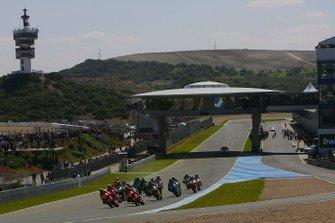 Start zum GP Spanien 2008 in Jerez: Dani Pedrosa, Repsol Honda Team, führt