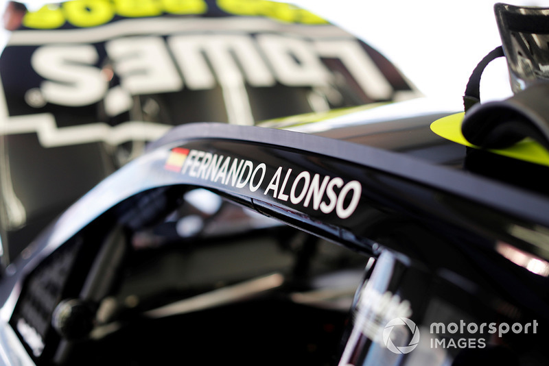 Name of Fernando Alonso on the NASCAR