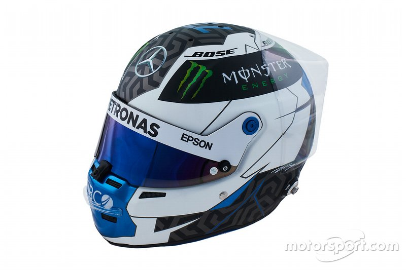 Casco de Valtteri Bottas Mercedes-AMG Petronas