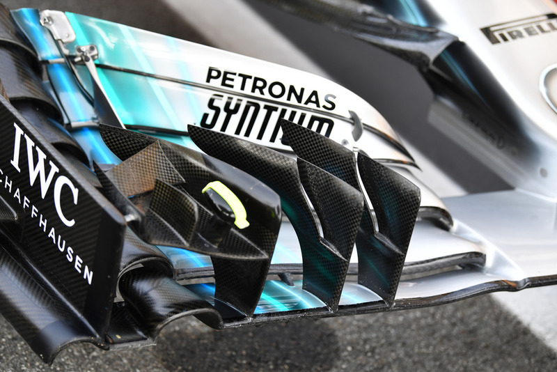 Mercedes AMG F1 W09 front wing detail