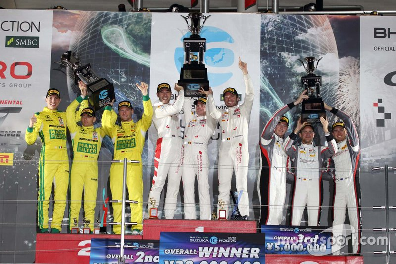 Podium | Audi Sport Team WRT, Mercedes-AMG Team GruppeM Racing, Absolute Racing