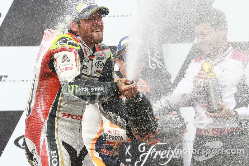 Podium: Sieger Cal Crutchlow, Team LCR, Honda
