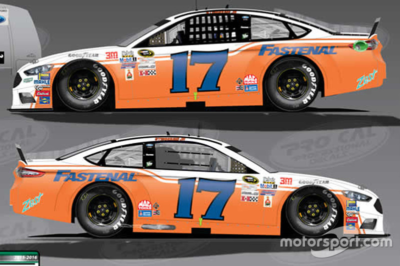Throwback-Design von Ricky Stenhouse Jr., Roush Fenway Racing, Ford