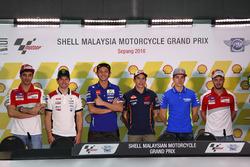 Andrea Iannone, Ducati Team; Cal Crutchlow, LCR Honda; Valentino Rossi, Movistar Yamaha MotoGP; Marc