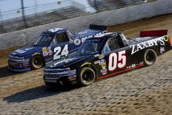 Kyle Larson, GMS Racing Chevrolet, Brady Boswell, Athenian Motorsports Chevrolet