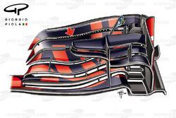 الجناح الأمامي لسيارة ريد بُل آر.بي12 خلال جائزة الصين الكبرى