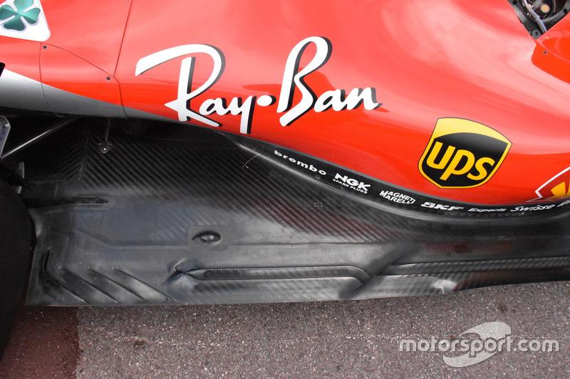 El suelo del Ferrari SF71H