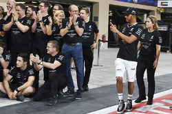 Lewis Hamilton, Mercedes AMG F1 at the team celebrations