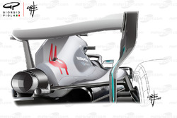 Mercedes AMG F1 W09 back rear view new mirrors