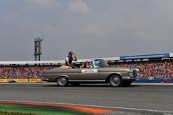 Lance Stroll, Williams, en el desfile de pilotos