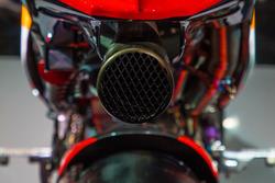 Escape trasero de la moto de Marc Márquez, Repsol Honda Team