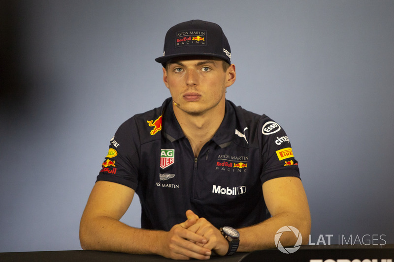 Max Verstappen, Red Bull Racing, nella conferenza stampa