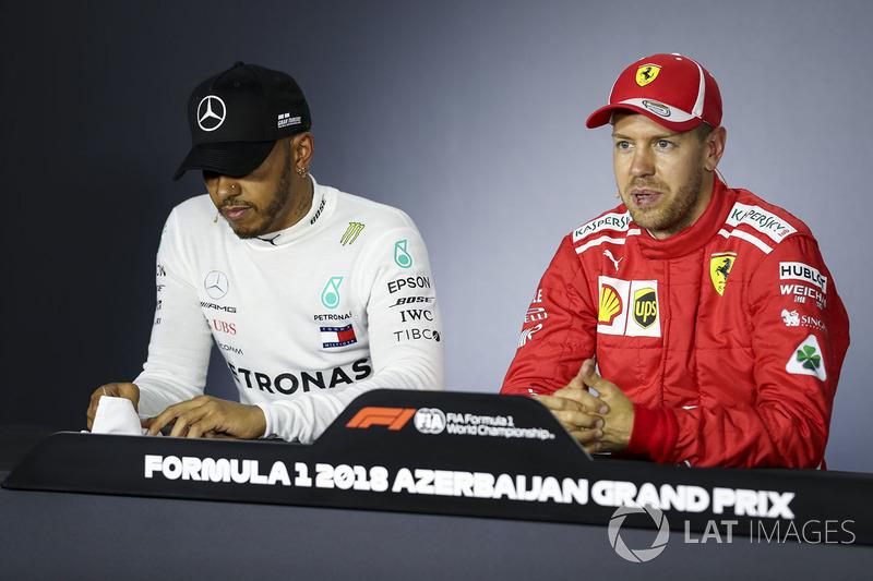 Lewis Hamilton, Mercedes-AMG F1m Sebastian Vettel, Ferrari