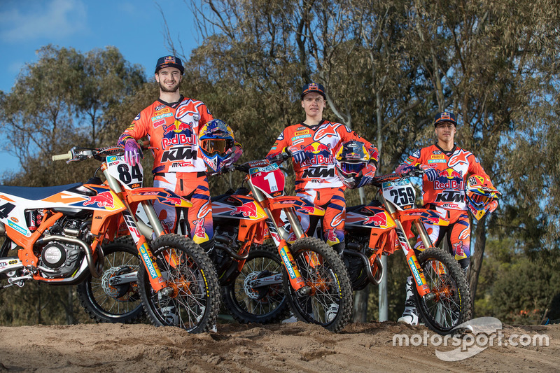 Jeffrey Herlings, Pauls Jonass and Glenn Coldenhoff, KTM Factory Racing