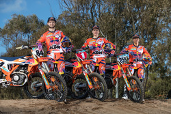 Jeffrey Herlings, Pauls Jonass y Glenn Coldenhoff, KTM Factory Racing
