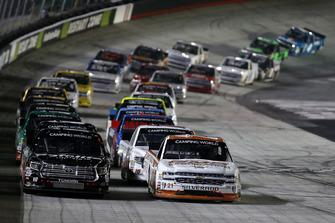 Johnny Sauter, GMS Racing, Chevrolet Silverado GMS Fabrication Noah Gragson, Kyle Busch Motorsports, Toyota Tundra Safelite AutoGlass