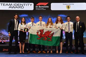 Team Identity Award winners with Antonio Giovinazzi, Ferrari and Jock Clear, Ferrari Chief Engineer