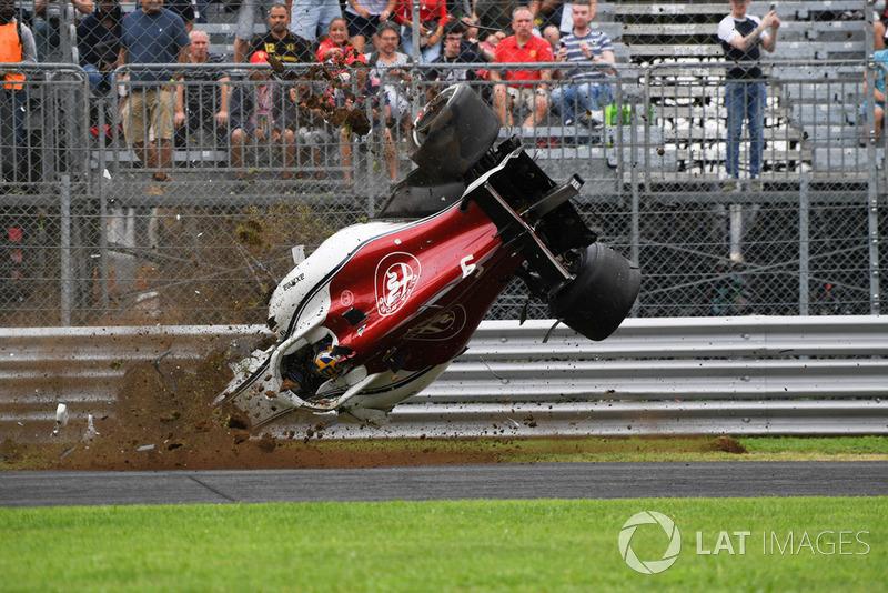 El accidente de Marcus Ericsson, Sauber C37