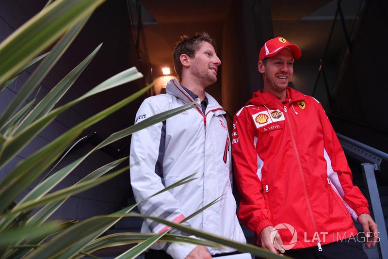 Ромен Грожан, Haas F1 Team, Себастьян Феттель, Ferrari