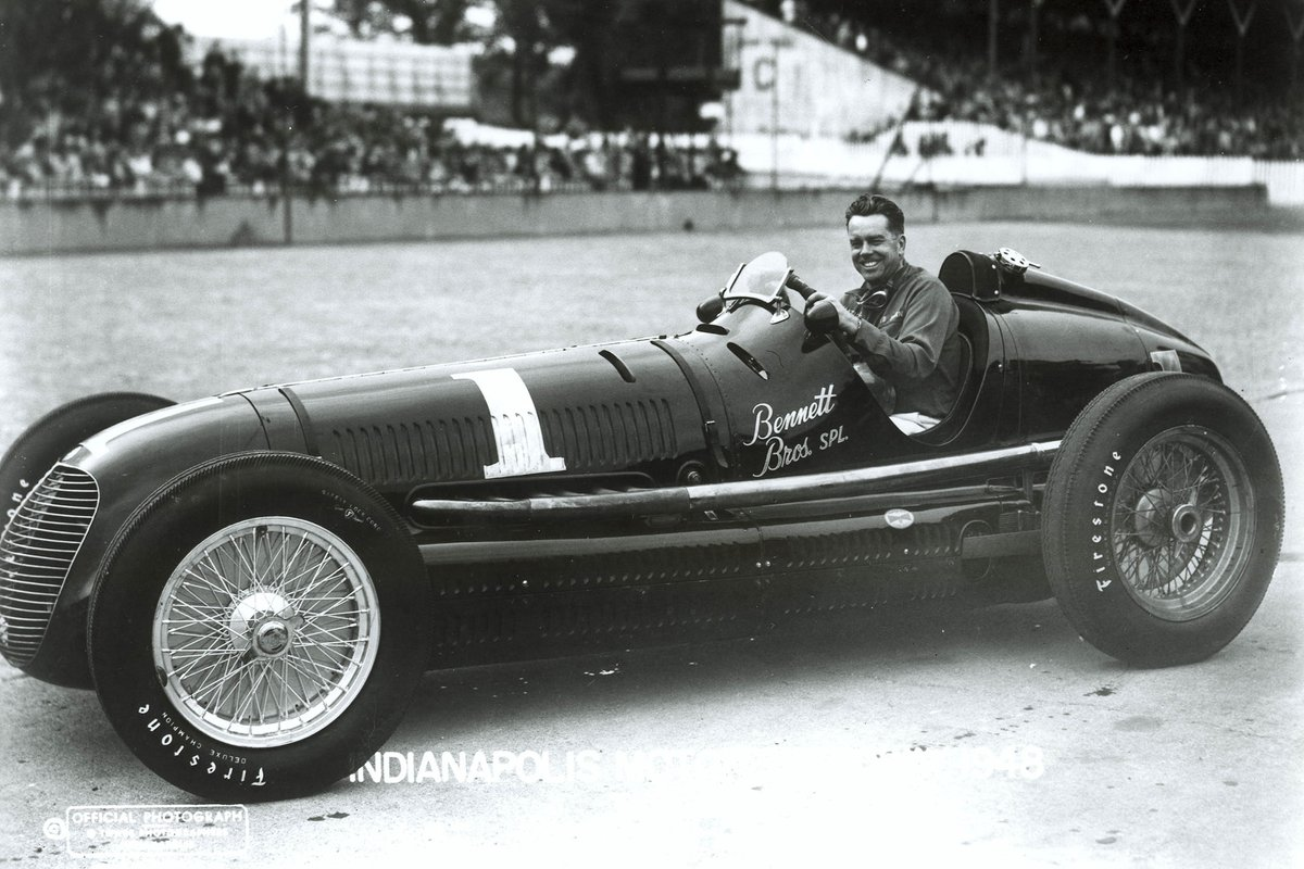 Horn's beautiful Maserati would lead for 74 of the 200 laps in 1948, but he'd have to slacken his hold on the race when sand messed with the rod bearings.