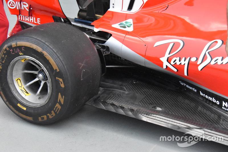 Ferrari SF71H detalle del piso