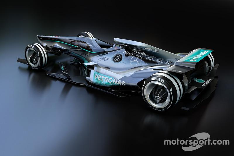 Futuristisch ontwerp: Mercedes F1 in 2030