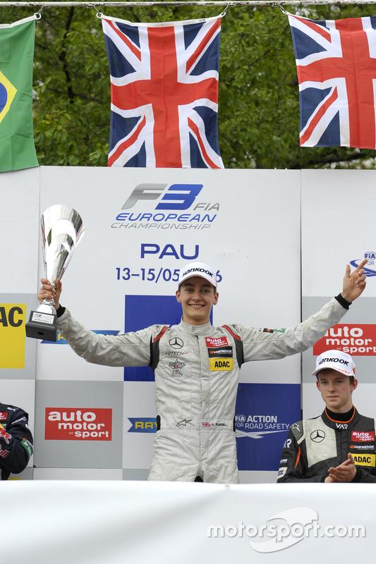 Podium: George Russell, HitechGP Dallara F312 – Mercedes-Benz; Callum Ilott, Van Amersfoort Racing Dallara F312 – Mercedes-Benz