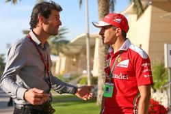 Mark Webber, Porsche Team WEC Driver - Channel 4 Presenter and Marc Gene, Ferrari Test Driver