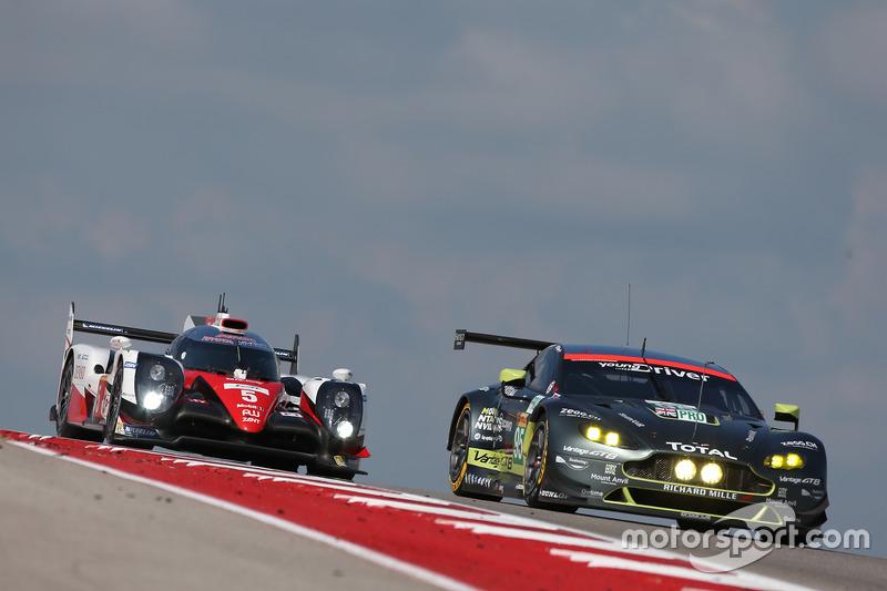 #5 Toyota Racing Toyota TS050 Hybrid: Sébastien Buemi, Kazuki Nakajima, Anthony Davidson, #95 Aston