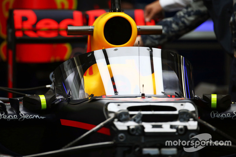 Sistema de proteção de cockpit - Red Bull Racing RB12