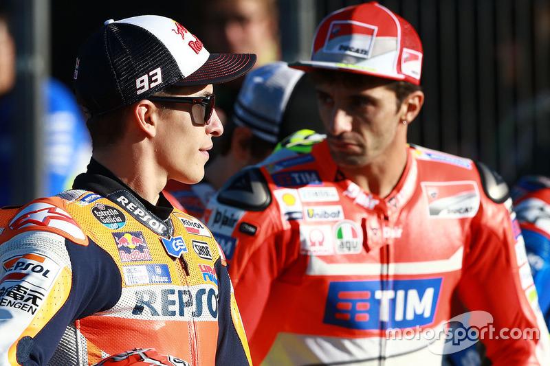 Marc Marquez, Repsol Honda Team; Andrea Iannone, Ducati Team